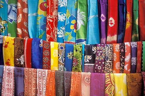 image 0-603-11 India, Goa, Fabrics, Arambol