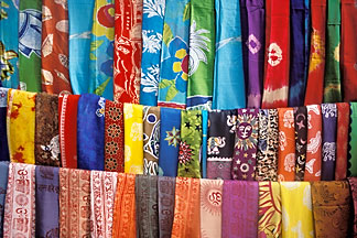 0-603-11 stock photo of India, Goa, Fabrics, Arambol