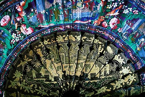 image 0-603-88 India, Goa, Decorative Fan