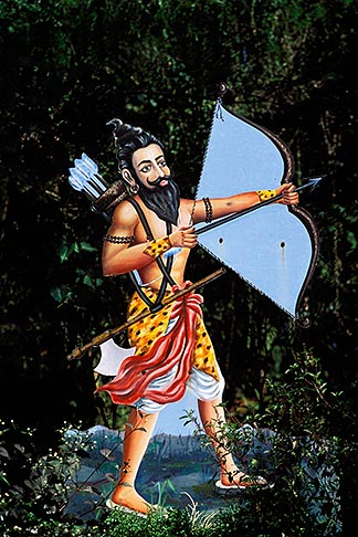 0-606-12  stock photo of India, Goa, Krishna with bow and arrow