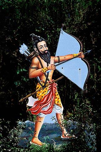 image 0-606-12 India, Goa, Krishna with bow and arrow