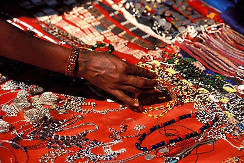 image 0-608-24 India, Goa, Jewelry, Anjuna flea market