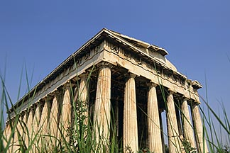 3-650-26  stock photo of Greece, Athens, Ancient Agora, the Thesseion, Temple of Hephaestus