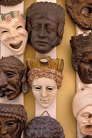 image 3-650-63 Greece, Athens, Masks