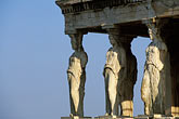sunlight stock photography | Greece, Athens, Acropolis, Caryatids, image id 3-652-1
