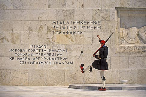 image 3-653-63 Greece, Athens, Evzones changing guard at the Tomb of the Unknown Soldier