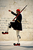 kick step stock photography | Greece, Athens, Evzone on guard, Parliament building, image id 3-653-78