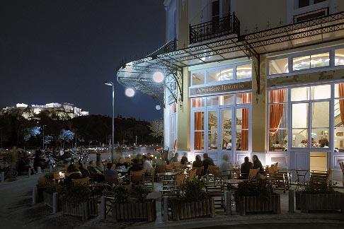 image 3-653-8 Greece, Athens, Thissio, Cafe Athenion Politeia