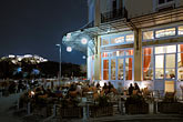 evening stock photography | Greece, Athens, Thissio, Cafe Athenion Politeia, image id 3-653-8