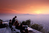 sunset stock photography | Greece, Athens, Restaurant atop Mount Likavitos, image id 3-654-8