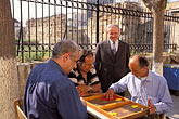 four men stock photography | Greece, Athens, Playing backgammon, image id 3-655-32