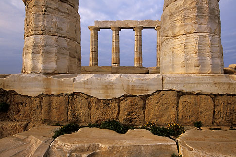 image 3-670-59 Greece, Attica, Cape Sounion, Temple of Poseidon