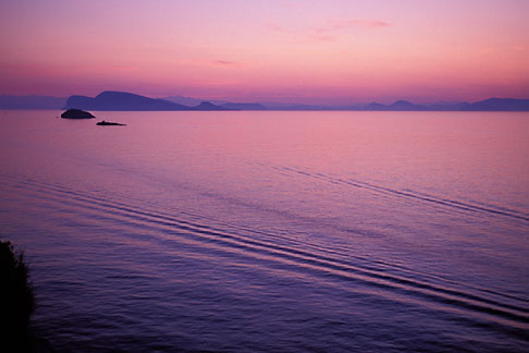 image 3-700-55 Greece, Hydra, Sunset over Gulf of Hydra