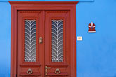 blue stock photography | Greece, Hydra, Doorway, image id 3-702-69