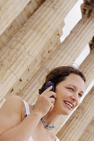 image 7-640-511 Greece, Woman on mobile phone