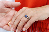 couple holding hands stock photography | Portraits, Couple holding hands, closeup with wedding rings, image id 7-640-666