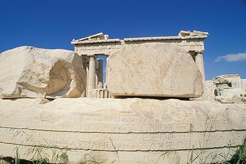 image 9-253-19 Greece, Athens, Acropolis,Parthenon, with carved stone blocks