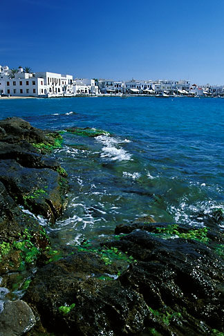 image 9-260-55 Greece, Mykonos, Waterfront