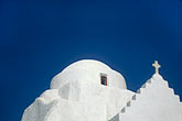 domed roofs stock photography | Greece, Mykonos, Church and cross, image id 9-261-57