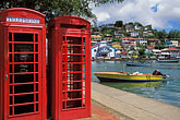 two objects stock photography | Grenada, St. GeorgeÕs, Carenage, telephone booths, image id 3-590-74