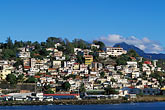 downtown stock photography | Grenada, St. George�s, Houses on hillside, image id 3-590-79