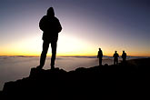 four men stock photography | Hawaii, Maui, Sunrise on Haleakala crater, image id 4-11-36