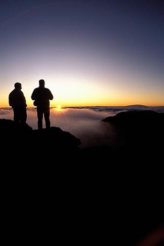 image 4-12-15 Hawaii, Maui, Sunrise on Haleakala crater