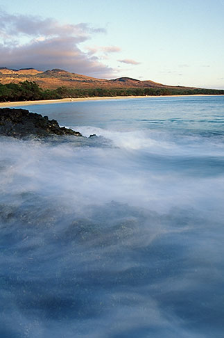 image 4-9-28 Hawaii, Maui, Evening light, North end of Makena Beach