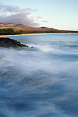spray stock photography | Hawaii, Maui, Evening light, North end of Makena Beach, image id 4-9-28
