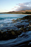 spray stock photography | Hawaii, Maui, Evening light, North end of Makena Beach, image id 4-9-31