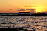 sunset over pacific ocean stock photography | Hawaii, Maui, Sunset over Molokini, image id 5-337-18