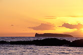 sunset over pacific ocean stock photography | Hawaii, Maui, Sunset over Molokini, image id 5-337-7
