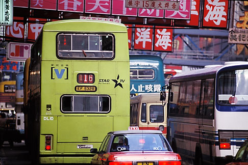 image 4-319-4 Hong Kong, Buses and traffic, Causeway Bay