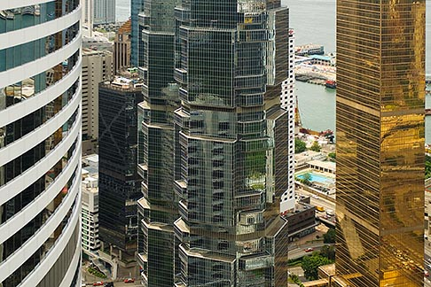 image 7-680-6243 Hong Kong, View of downtown from highrise building