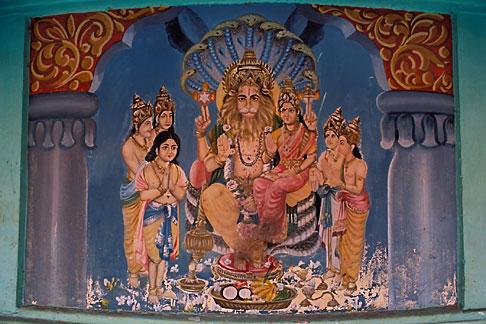 image 7-107-17 India, Cochin, Mural of Vishnu, Mattancherry Palace