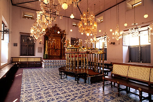 image 7-109-23 India, Cochin, Jewish Synagogue, Mattancherry