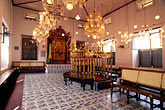 inside stock photography | India, Cochin, Jewish Synagogue, Mattancherry, image id 7-109-23