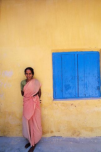 image 7-118-30 India, Cochin, Woman at spice warehouse