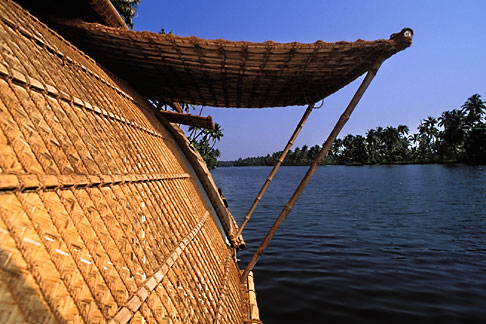 image 7-121-21 India, Kerala, Houseboat in coastal backwaters