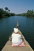 vertical stock photography | India, Kerala, Boatman, coastal backwaters, image id 7-121-35
