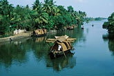 horizontal stock photography | India, Kerala, Houseboat in coastal backwaters, image id 7-131-19