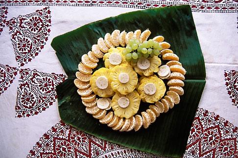 image 7-133-16 India, Kerala, Fruit salad, backwaters houseboat