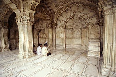 image 7-287-22 India, Delhi, At prayer, Moti Mahal, Red Fort