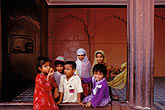 horizontal stock photography | India, New Delhi, Children, Jama Masjid, image id 7-290-1