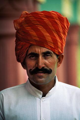 image 7-297-8 India, Rajasthan, Rajasthani man with turban