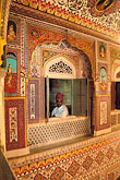 one man only stock photography | India, Rajasthan, Durbar Hall, Samode Palace, image id 7-324-12
