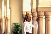 hotel stock photography | India, Jaipur, Turbaned Rajasthani, Rambagh Palace, image id 7-339-16