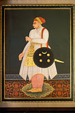 palace of fine arts stock photography | Indian Art, Painting of Maharajah, image id 7-348-13