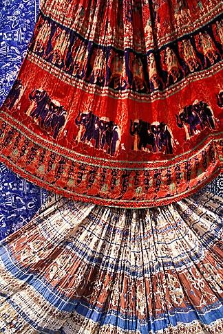 image 7-349-3 India, Jaipur, Rajasthan fabrics