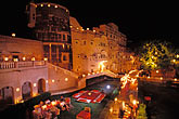 hotel stock photography | India, Rajasthan, Mandawa Castle at night, image id 7-359-2